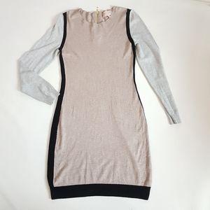 Philosophy Color Block Sweater Dress  Long Sleeve